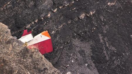 24mar2015-imagem-retirada-de-video-da-afp-traz-detalhe-de-parte-do-estabilizador-vertical-do-airbus-a320-da-companhia-aerea-germanwings-que-caiu-nesta-terca-feira-nos-alpes-franceses-proximo-a-cid