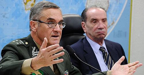 O general Eduardo Villas Bôas em audiência no Senado