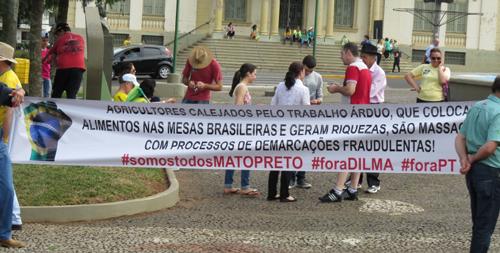 Agricultores de Erechim protestam contra demarcação espúria da Terra Indígena Mato Preto (foto Rodrigo Finardi)