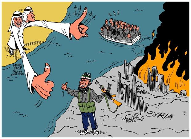 Carlos Latuff refugees and rebels